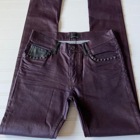 Zara Black Tag Jeans Burgundy